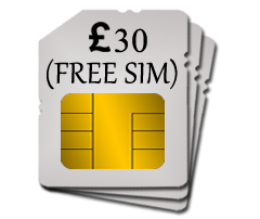 SIM w/ £30 top-up