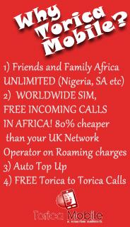 Free Calls To Nigeria & Free Roaming Calls - Toricamobile